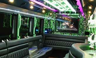 Interior of Party Limo